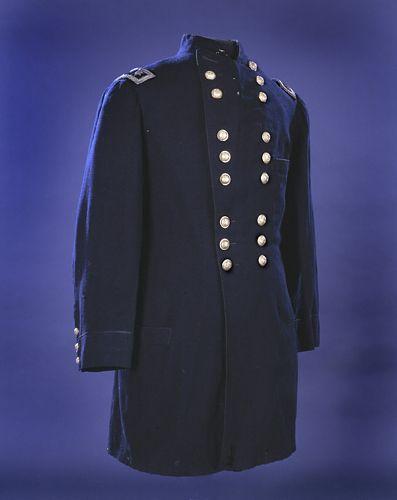 Major General George McClellan's Coat Worn at Antietam. Blue wool frock coat, non-regulation.