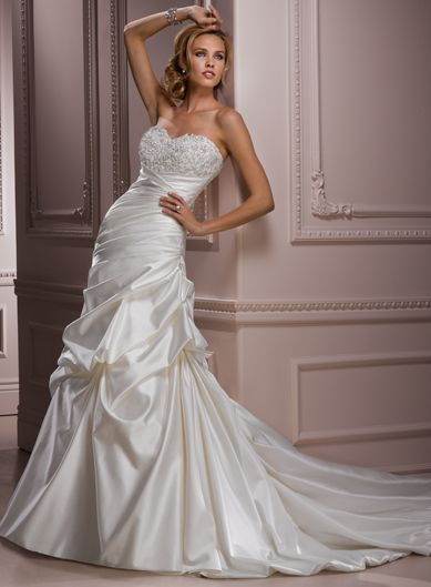 A-line Satin Sleeveless bridal gown,affordable wedding dress,affordable wedding dress,affordable wedding dress