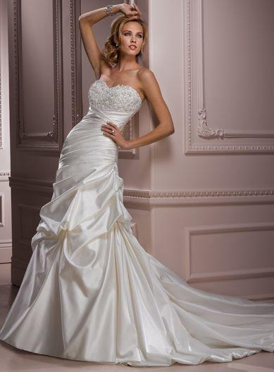 A-line Satin Sleeveless bridal gown: Dresses Wedding, Wedding Dressses, Ideas, Dreams, Style, Wedding Dresses, Weddings, Bridal Gowns, Maggie Sottero