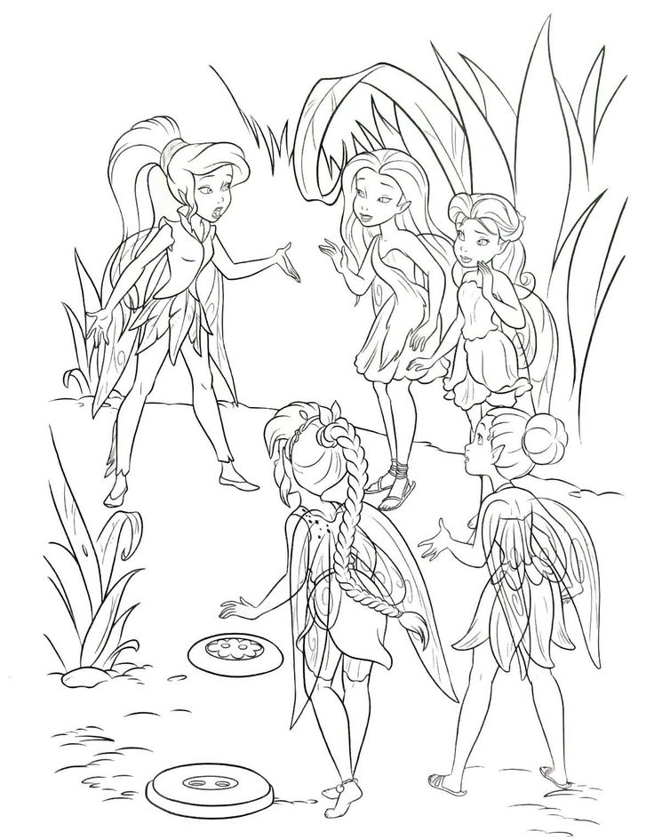 fairy coloring book page printable for children