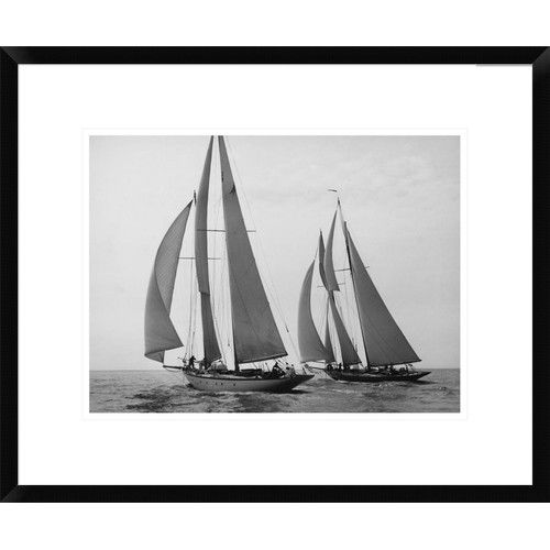 Found it at Wayfair - Sailboats Race during Yacht Club Cruise by Edwin Levick Framed Photographic Print