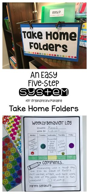 Take Home Folders: An easy system for organizing and managing students' weekly take home folders