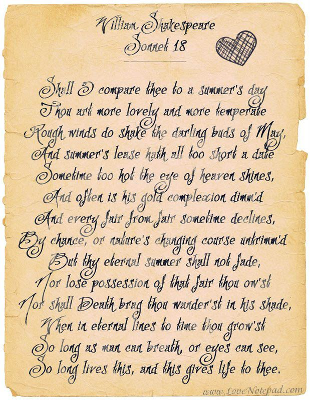 William Shakespeare - Sonnet 18 , One of the most beautiful love poems ever!