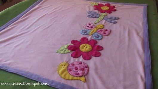 Çiçekli böcekli bebek battaniyesi – 10marifet.org