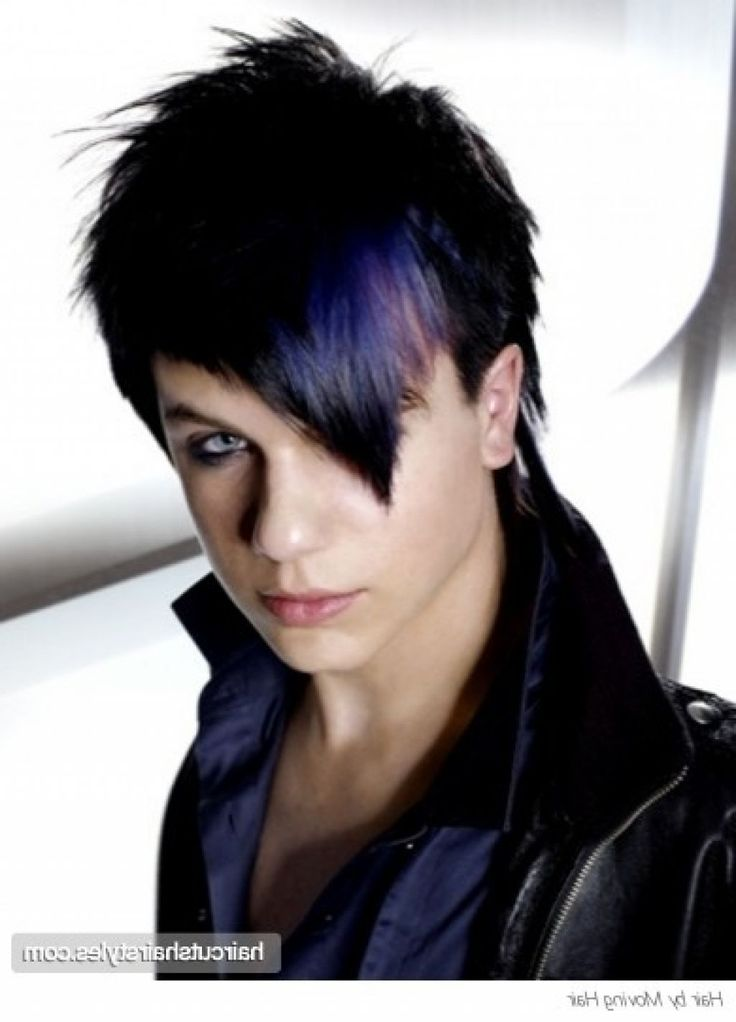 Emo Boy with Purple Hair | hairstyles | Emo hairstyles for ...