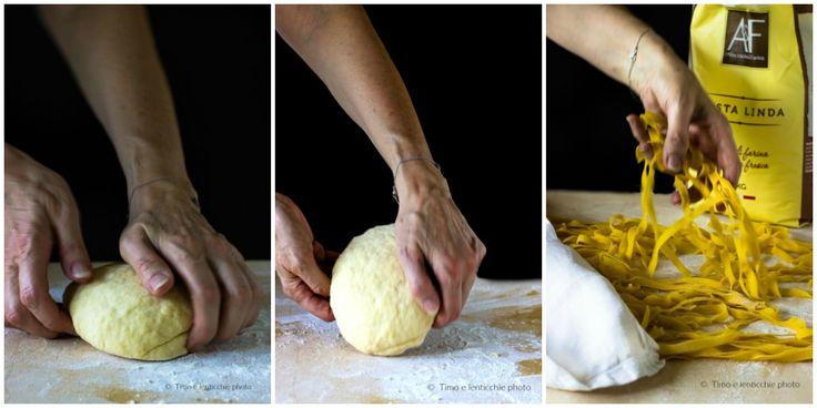 Tagliatelle con fagioli ricetta vicentina rivisitata con noci e radicchio 12