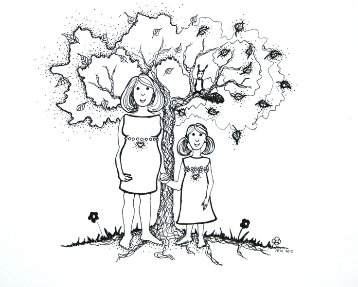 fairytale Ilustration of Ida Novotna for my therapeutic fairy tale about mental baby (inner baby)