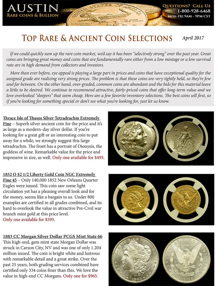 Download our latest Top Rare Coin and Ancient Coin Showcase for April 2017