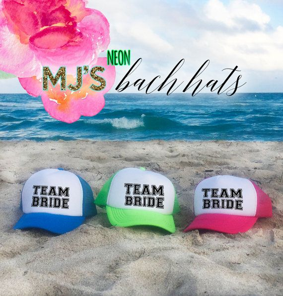 NEON Bachelorette Party Hat / TEAM BRIDE by MJsBridalSupport