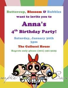 The Powerpuff Girls Birthday Personalized Party