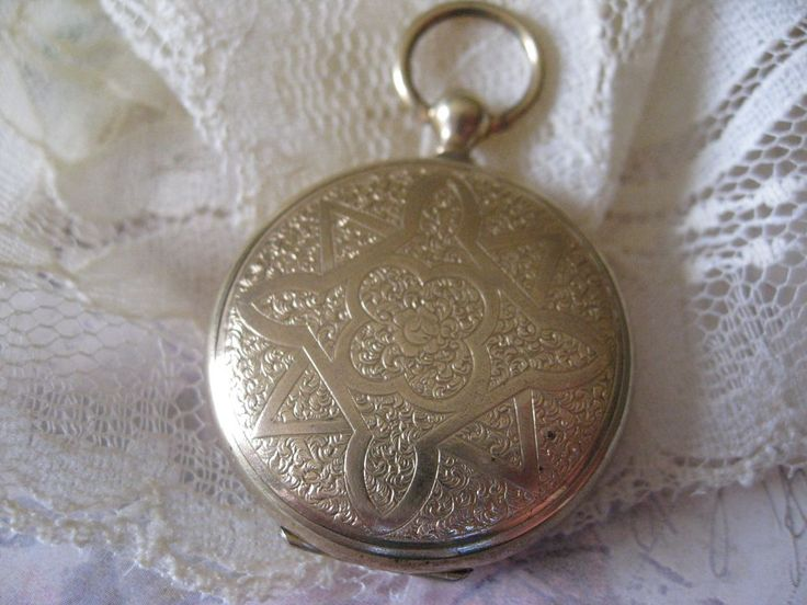 Victorian Locket with Blond Hair from inspiredbynanny on Ruby Lane