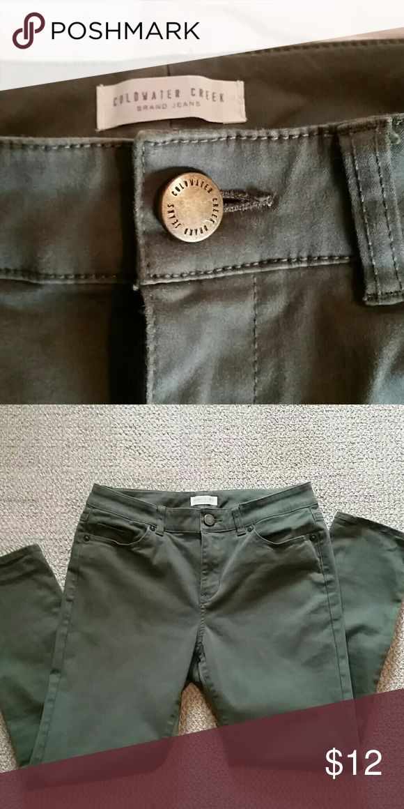 Like New Coldwater Creek Olive Ankle Pant Worn once Coldwater Creek olive color ankle pant. Coldwater Creek Pants Skinny