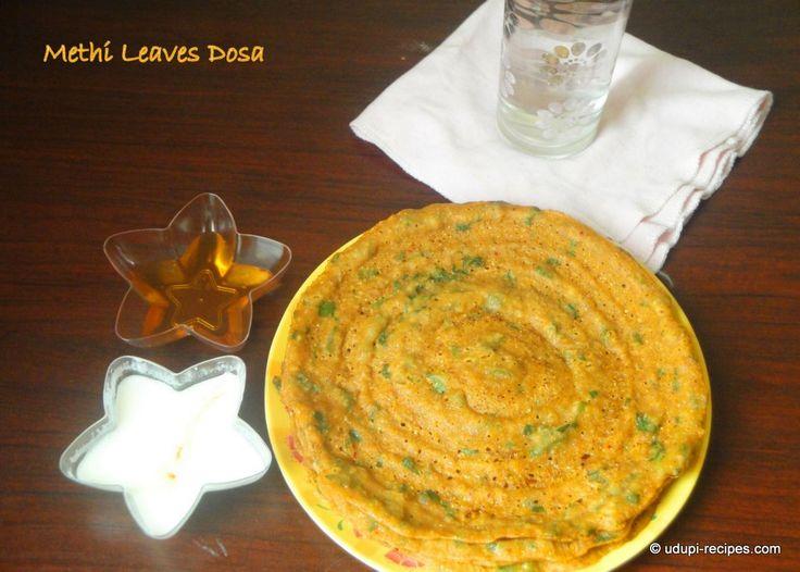 Methi Leaves Dosa Recipe - Udupi Recipes