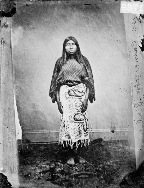 COMANCHE WOMAN AT FORT SMITH - ARKANSAS , 1865