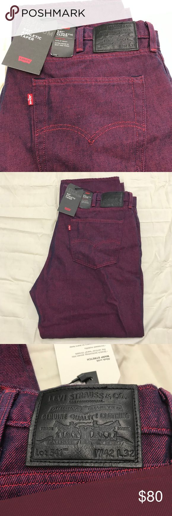 Levi's 541 Two Tone Athletic Stretch Jeans 42x…