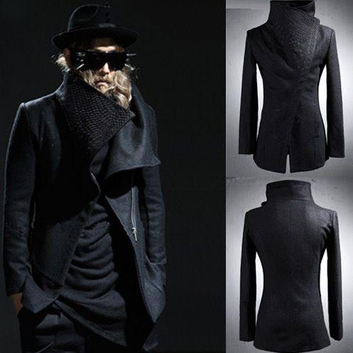 Harajuku Croix Broderie Coréenne Hommes Peacoat 2017 Laine Manteau Casual Hommes Costume Veste Sobretudo Slim Fit Trench Manteau Coupe-Vent