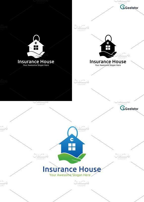 Insurance House Logo Template Home Logo Logo Templates Home
