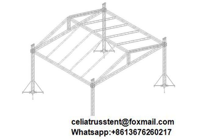 40 Feet By 40 Feet Size Truss System Customized Lighting Truss Design Truss Structure