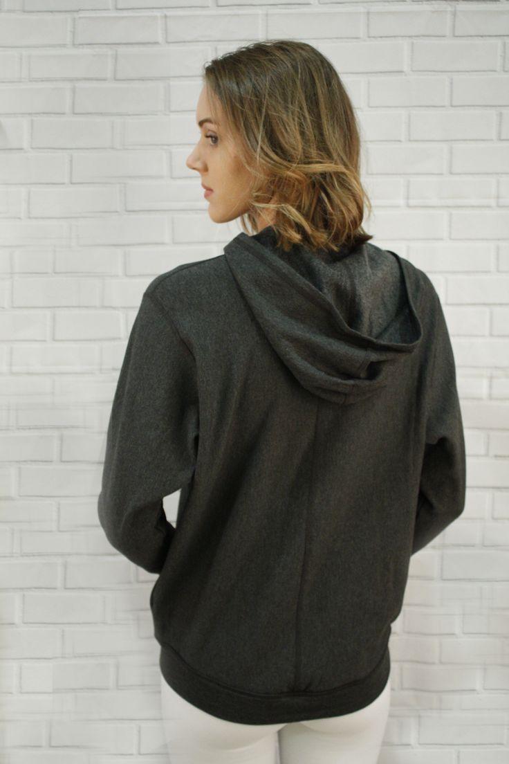 Delia Bamboo Fleece jacket - batwings, loose fit, comfy warm