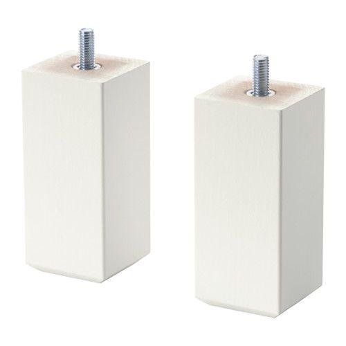 IKEA - STUBBARP, Poot, wit, , Staat stevig, ook op ongelijke vloeren, omdat de poten verstelbaar zijn.De STUBBARP poten verhogen de BESTÅ combinatie, zodat deze van de grond komt, een luchtig uiterlijk krijgt en je er makkelijker onder kan schoonmaken.Met het meegeleverde verbindingsbeslag kunnen twee basiselementen aan elkaar worden bevestigd met maar 1 poot ertussen, zodat het geheel er strakker uitziet.