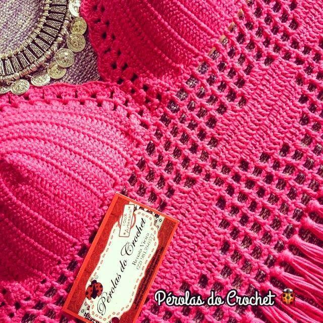 Maxi cropped em crochet com franja.   Ainda em alta.   Peça que caiu no gosto das mulheres!!     Fio 100%algodão   Charme da Círculo...