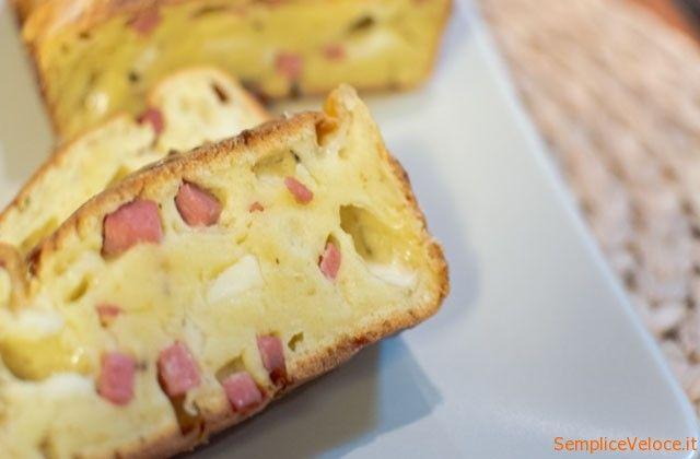 Plumcake salato ricetta semplice e veloce