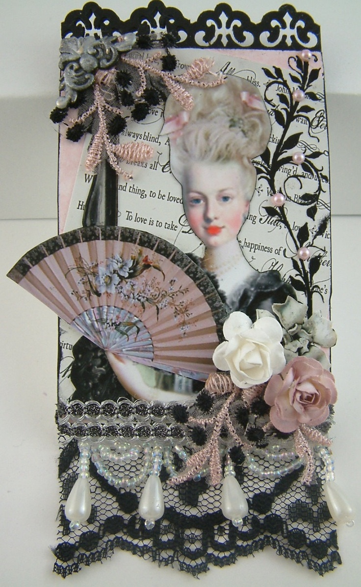 Marie Antoinette Inspired Mixed Media Collage ACEO/ATC. $5.00, via Etsy.