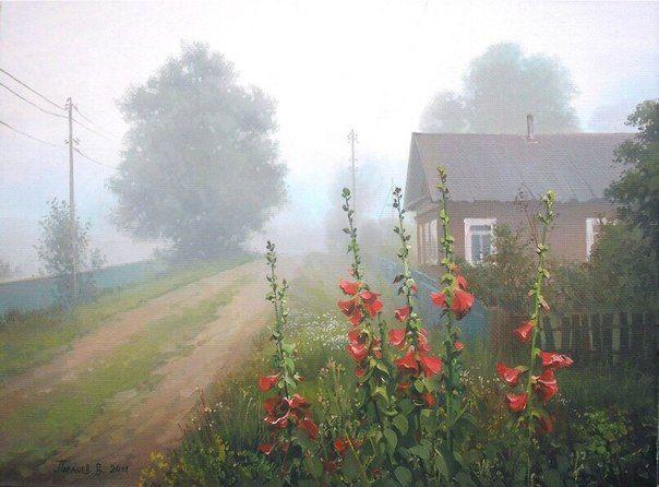 Потрясающие теплые деревенские пейзажи художника Вячеслава Палачева / Западло