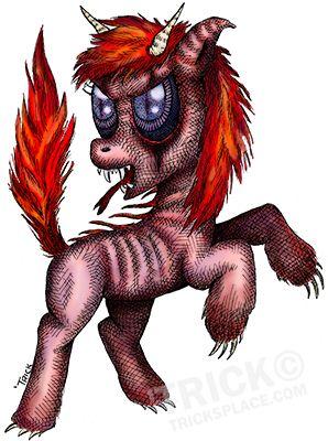 My Little Evil Pony! Artwork by 'Trick. TricksPlace.com