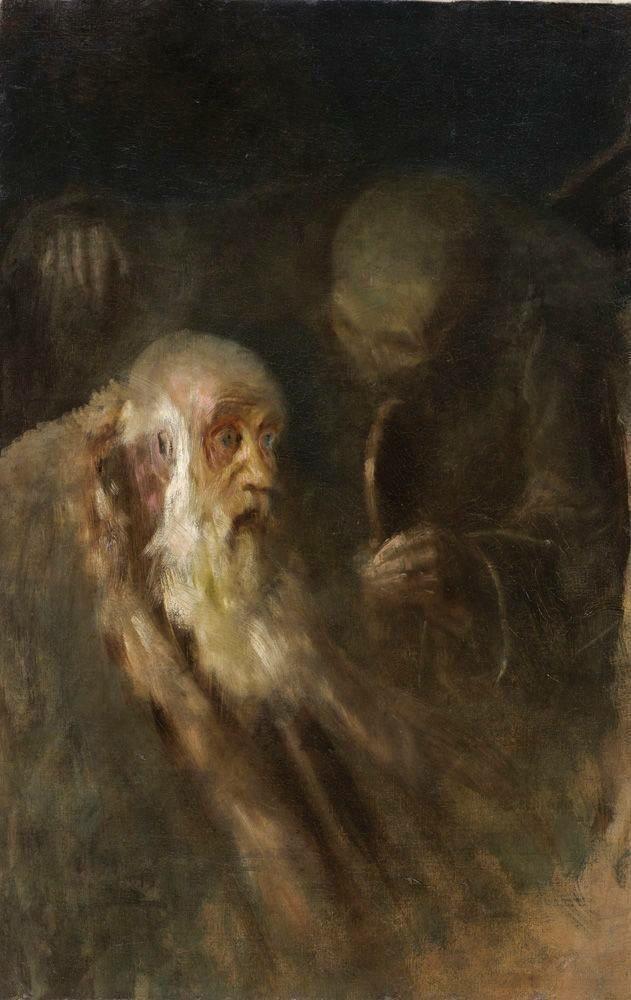 László Mednyánszky (1852-1919) Starec a smrť I (The old man and Death) 18951900