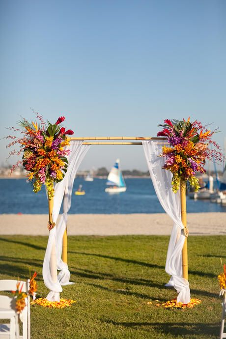 Arch Tropical Flower Arrangements