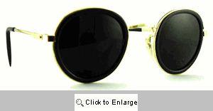 LP Round Metal Sunglasses - 459T Black