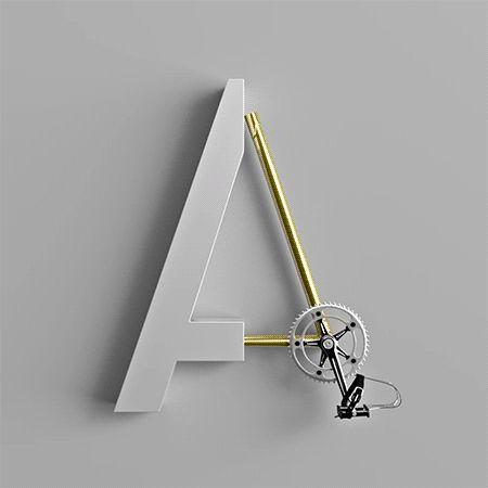 Tu aimes la typo ? tu aimes le vélo ? Voici la police de caractères qu'il te faut ! Marcel Piekarski