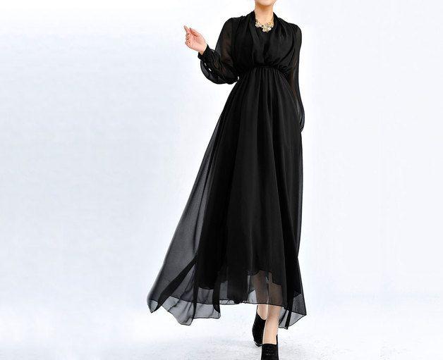 Maxi abiti - Le donne del partito Long Sleeve Vestito - un prodotto unico di ChineseHut su DaWanda