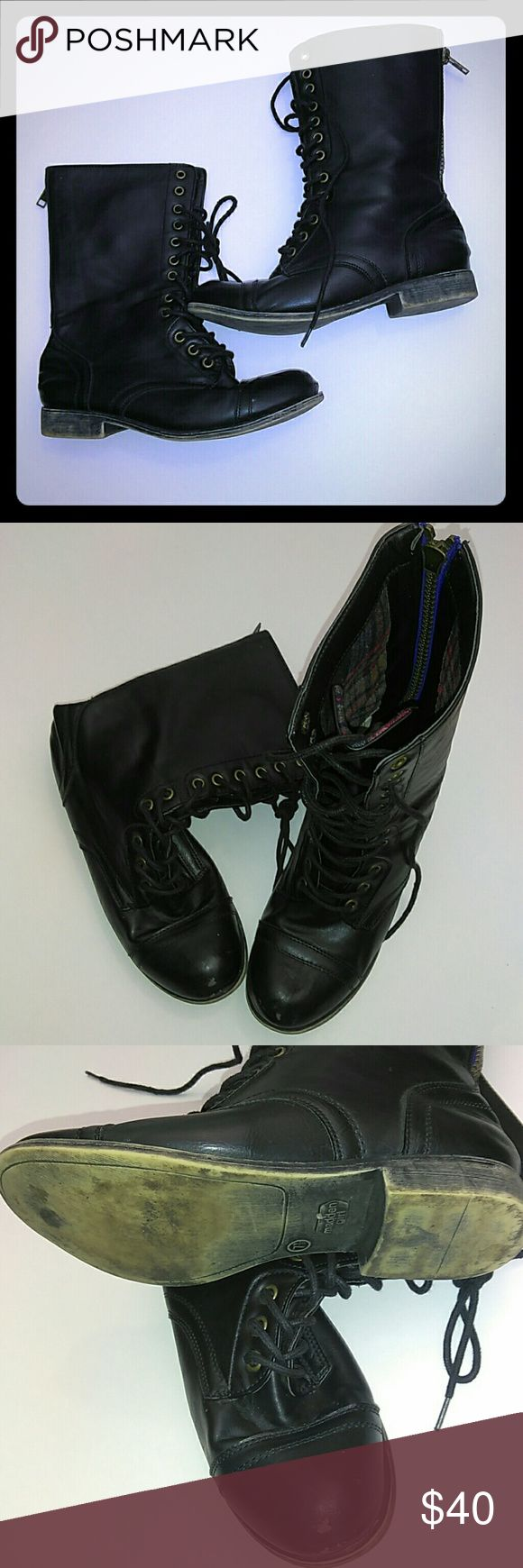 Womans Combat boots Used but in good condition only light pilling in the front of boots Madden Girl Shoes Combat & Moto Boots