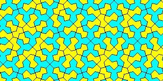 The Socolar Tiling - irregular hexagon and irregular pentagon version