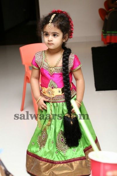 Lovely Girl Pretty Green Color Skirt | Indian Dresses