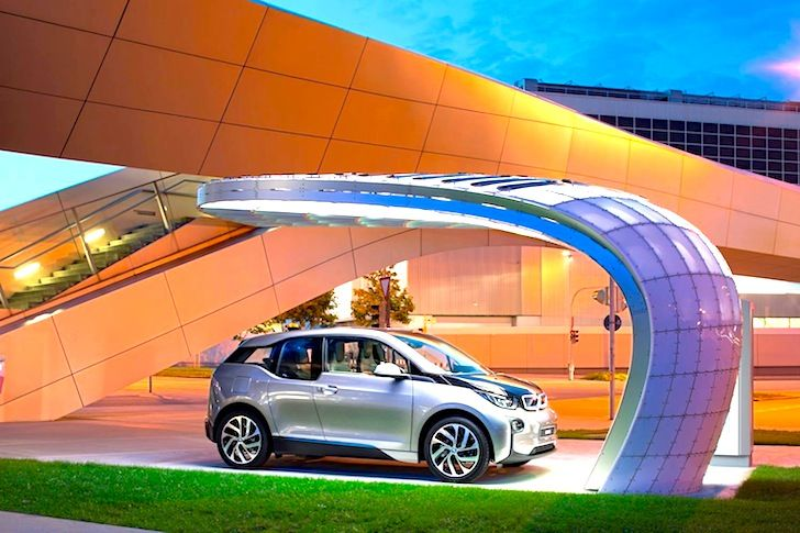 Point.One S: BMW's First Solar Charging Point Brings Beautiful Modern Design to Emission-Free Transit   Inhabitat - Sustainable Design Innovation, Eco Architecture, Green Building