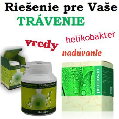 Chioská masticha + probiotiká - prírodné produkty pre lepšie trávenie (vredy, helikobakter, nadúvanie, zápal sliznice).