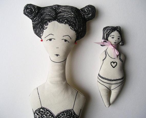 CONSTANZIA / fabric doll / by CUTandTEAR