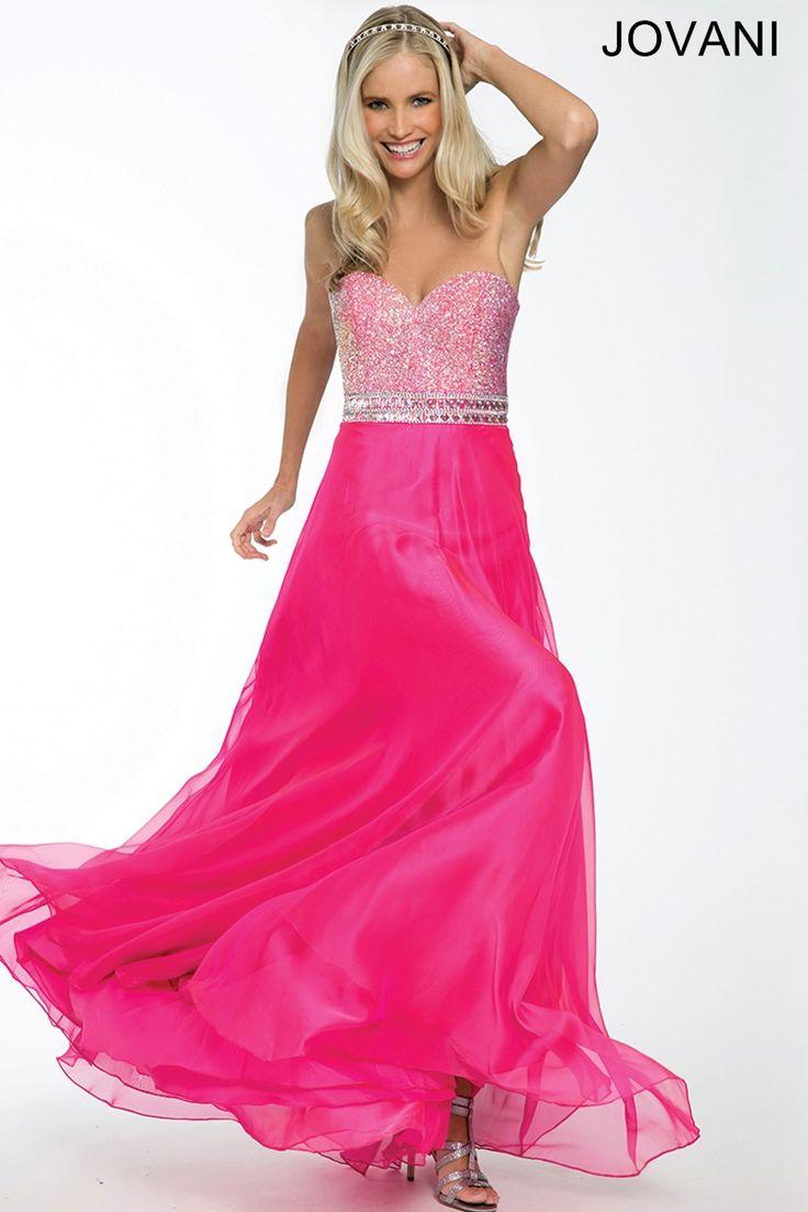 29 best Bright Hot Pink images on Pinterest | Formal evening dresses ...