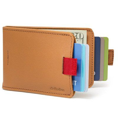 Leather Slimfold Wallet - STAND STRONG MENS WALLET by VIDA VIDA DJyY3X6R