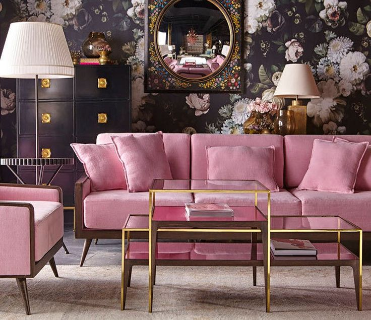9 Pretty in Pink Rooms for Your Feminine Side | Living rooms, Room ...