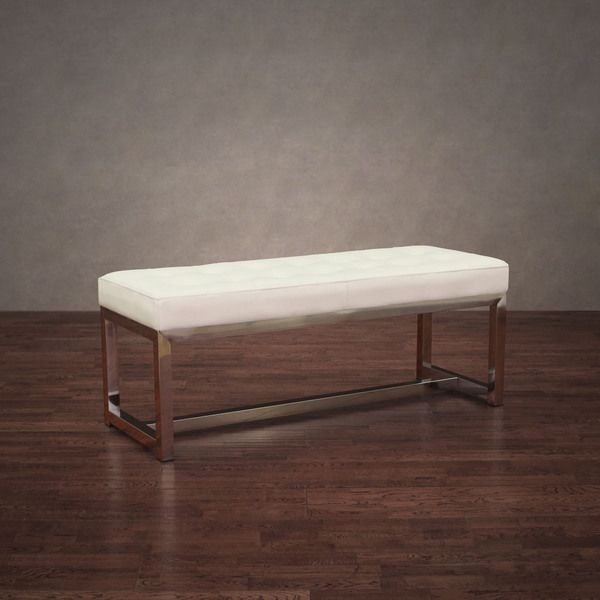 Liberty Modern White Leather Bench Leather Products And Liberty