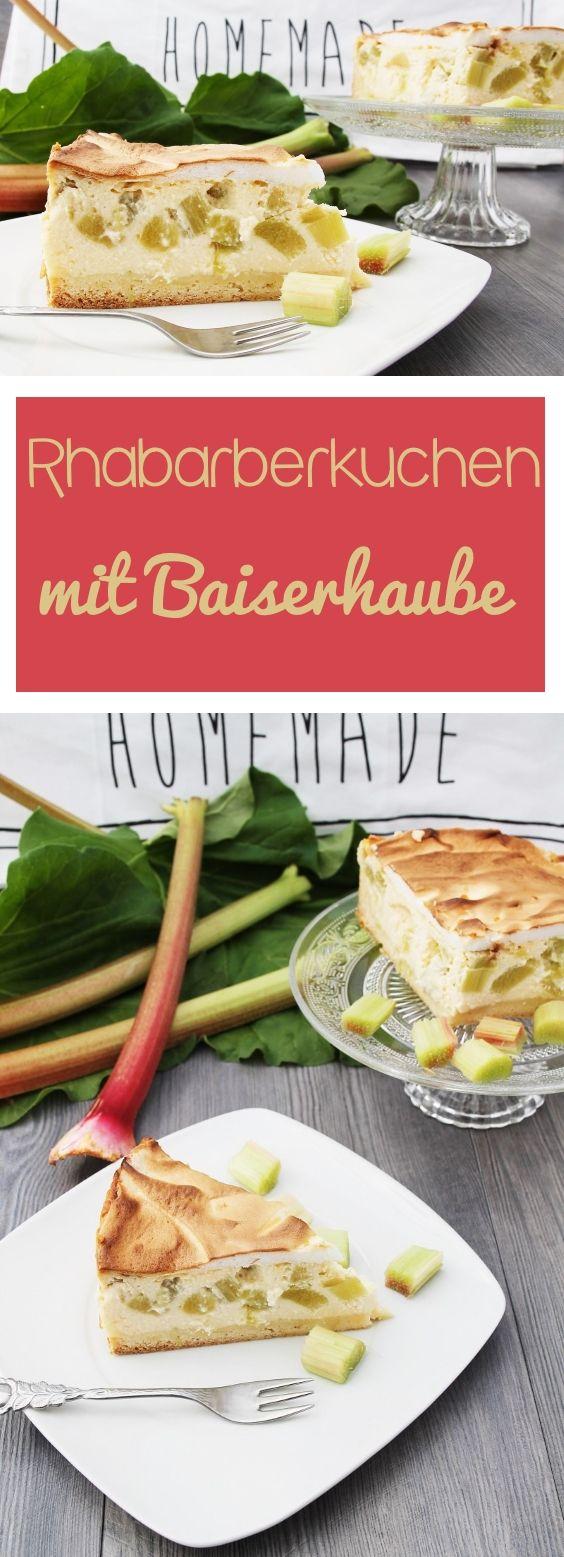 Rhabarberkuchen mit Baiserhaube ist ein absolutes Traditionsrezept und stammt nicht von mir, sondern von meiner Mama. #rhabarber #erdbeeren #kuchen #baiser #baiserhaube #cheesecake #füllung #torte #frühling #saisonal #dessert #nachtisch #gelatine #blog #foodblog #rezept #candbwithandrea