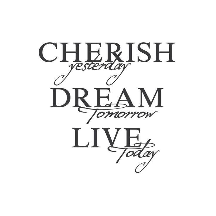 """wall quotes wall decals - """"Cherish, Dream, Live"""""""
