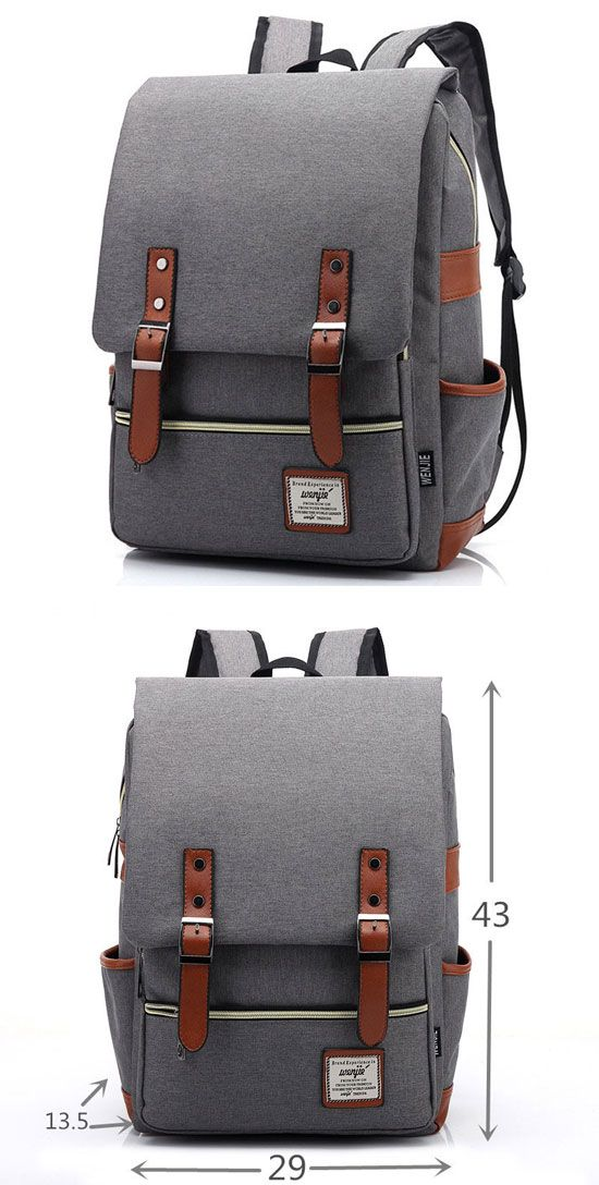 I like this backpack so much! Vintage Travel Backpack Leisure  backpack! #Canvas #Leather #Backpack #Schoolbag