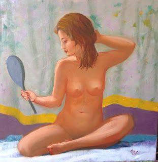 Art by Viorica Buga: Oglinda, ulei pe panza,60x60 cm