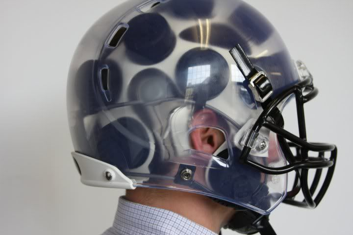 Helmet specially adapted for a cochlear implant  -Northgate Hearing Services