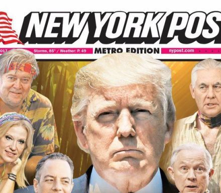 Brilliant New York Post cover perfectly sums up Trump's White House